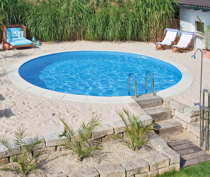 Piscina fuori terra rio montaggio piscine interrate elemento acqua - Piscina a terra ...
