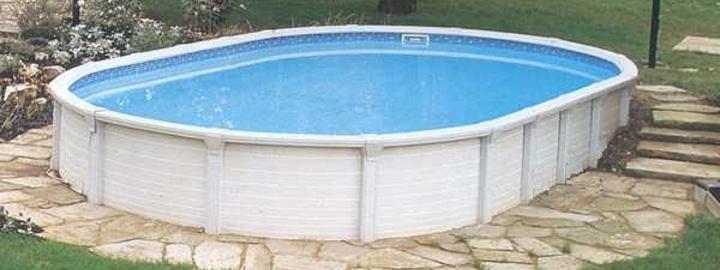 Piscina fuori terra vogue atrium ovale elemento acqua - Piscina fuori terra ovale ...