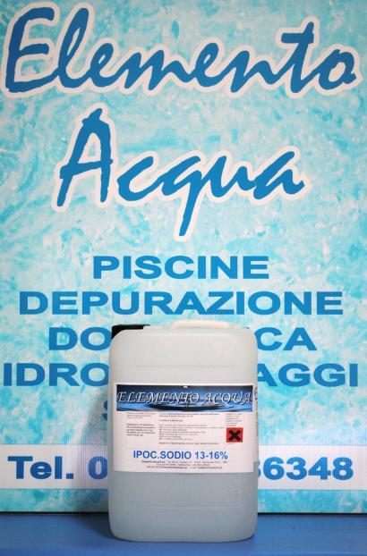 Ipoclorito di sodio prodotti chimici per piscina cloro for Cloro liquido per piscine