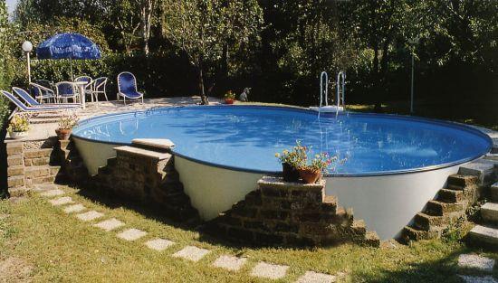 Piscina fuori terra haway piscine in offerta elemento acqua - Piscina seminterrata prezzi ...