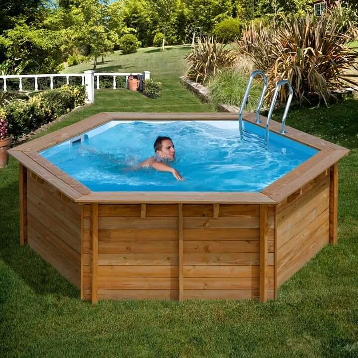 Piscina in legno vanille violette piscina fuori terra for Piscine venelle