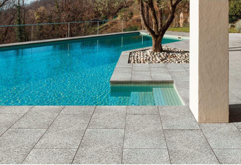 Bordo e piastrella granit stone per piscine elemento acqua